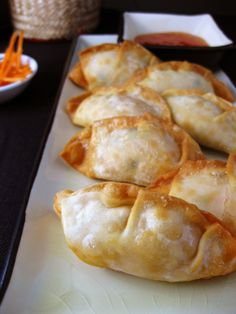 Crab Rangoon : Love the flavor of this. Used real crab =) Would add more cream cheese but that's because I love the cream cheese part. This recipe was very crabby