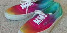 (1 this is dyed, not tied 2 Jerry was awesome, honoring his memory is fine) Dyed Vans | 28 Tie Dye DIYs That Won't Remind You Of Jerry Garcia