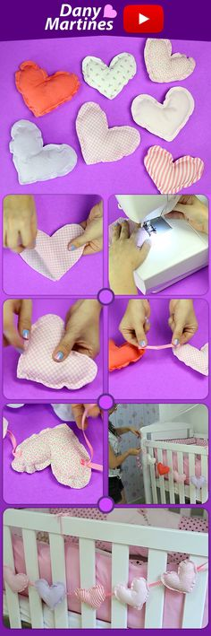 Do it yourself crib decoration, heart mobile, room decoration - Pin This Diy Projects For Teens, Diy For Teens, Crafts For Teens, Diy Crafts To Sell, Easy Crafts, Baby Room Decor, Diy Bedroom Decor, Crib Decoration, Diy Crib