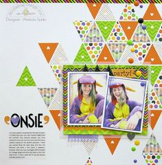 Non-Halloween Themed Projects using Halloween Parade Layout by Melinda Spinks