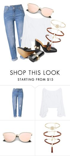 """xx"" by pauloskompanieros on Polyvore featuring WithChic, Petersyn and Gucci"