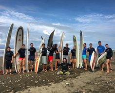 Group surf lesson in dominical Costa Rica  #surflesson #surfcamp #costarica #dominical