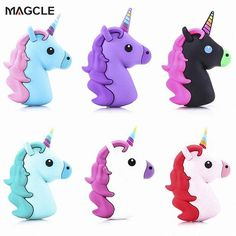 Unicorn powerbank Cute Portable Real 1800mah