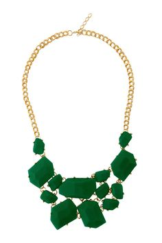 emerald green necklace #colouroftheyear #green #accessories #hot