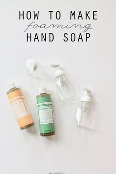 This is one of those super simple, why haven't I been making this forever sort of DIY recipes. With just two ingredients it's easy to mix up and extremely economical. You might recognize it frommy first book, The Organically Clean Home. Here's what you'll need: foaming soap dispenser(s) – reuse one you have or you... (read more...)