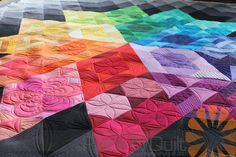 Piece N Quilt: Gravity Quilt - Custom Machine Quilting by Natalia Bonner