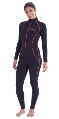 Women Coverup Full Body Sun Protection Swimsuit XS Black ...