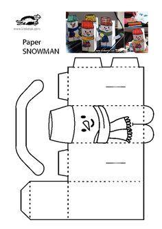 KROKOTAK PRINT! | printables for kids   SNOWMAN BOX