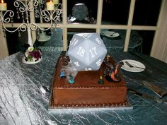 Another view of our Dungeons & Dragons groom's cake!