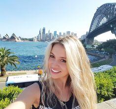 Hello aussie! perfect aussie selfie Sydney Opera house city skyline and Sydney Harbour bridge! #aussie #tourist #holidays #selfie #me #epic #sydney #sydneyoperahouse #cityskyline #sydneyharbourbridge #bluewaters #happy #blonde #smile #yay #instagood #picoftheday #living by courtneymaree21 http://ift.tt/1NRMbNv