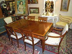 Dining Table (3 leaves) and six chairs