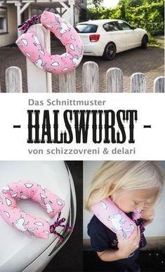 Halswurst das Schnittmuster von schizzovreni und Delari - Bebilderte Anleitung um eine Nackenrolle für Kinder zu nähen.