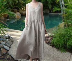 Summer Dress Maxi Dress Cotton Dress Long Cotton by FabFabricsForU