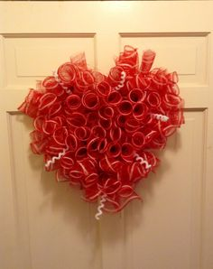 Valentines heart wreath I make.