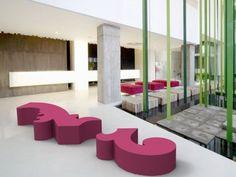 Polyurethane bench seating PARTERRE by Sixinch design Alberto Caramello