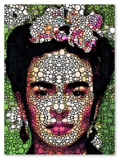 Frida Kahlo Art Print from Painting Colorful Famous Artist Icon Historical People CANVAS Ready To Hang Large Artwork FREE Shipping S/H