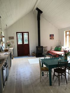 Welcome to our idyllic summer house at the west coast of Sweden. Tiny House Living, Home And Living, Rustic Cabin Decor, Cabin Interiors, Beach House Decor, Home Decor, Cabin Homes, Kit Homes, House In The Woods