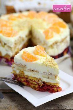 Sweet Desserts, No Bake Desserts, Sweet Recipes, Cake Recipes, Polish Desserts, Polish Recipes, Poke Cakes, Lava Cakes, Ice Cream Candy