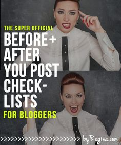 Before   After Checklists for Your Blog Posts (and a free download)