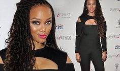Tyra Banks with Faux Locs