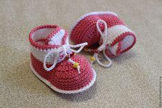 """Купить Пинетки """"Кедики 2"""" - разноцветный, пинетки, для новорожденного, детское, туфельки, кеды, для девочки, малышам ♥♥"""