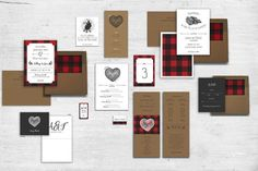 Wedding Table - Table Numbers - Rustic Wedding - Outdoor Wedding - Lumberjack - Plaid Table Numbers - Lumberjack Party - or Wedding Reception Schedule, Wedding Weekend Itinerary, Wedding Reception Signs, Wedding Table, Wedding Cards, Wedding Menu, Wedding Ideas, Wedding Themes, Wedding Blog