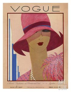 Vogue Cover - May 1927 Regular Giclee Print by Harriet Meserole at Art.com