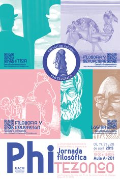 Jornada Filosófica PHI TEZONCO UACM 2015 Movies, Movie Posters, Mexico City, Poster, Cities, Films, Film Poster, Cinema, Movie