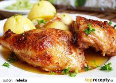 Kuřecí stehýnka v pikantní jogurtové omáčce recept - TopRecepty.cz Tandoori Chicken, Pork, Meat, Ethnic Recipes, Kale Stir Fry, Beef, Pork Chops