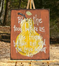 PEAR Painting Canvas with Blessing on Etsy, $55.00