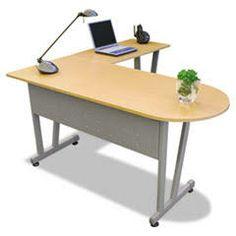 Desks, Lit MA712HON Linea Italia Massima Line L-Shaped Desk