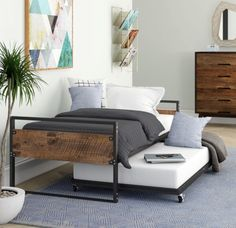 Barrett Twin Daybed with Trundle. Trule Teen Barrett Twin Daybed with Trundle Trundle Mattress, Twin Daybed With Trundle, Two Twin Beds, Twin Bed Couch, Trundle Beds, Sofa Beds, Sofa Chair, Twin Platform Bed, Wood Platform Bed