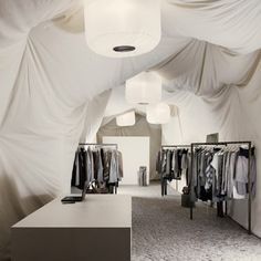 Temporary fashion store a Budapest - Nanushka
