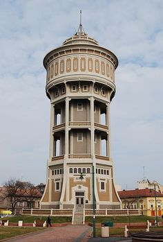 Water tower 'Old Lady' in Szeged, Hungary. The oldest reinforced concrete building in Hungary