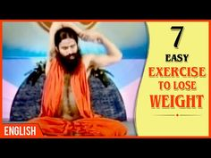 7 Easy Exercises To Lose Weight | Baba Ramdev Yoga | English
