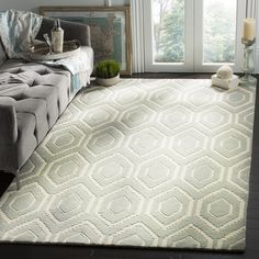 Safavieh Handmade Moroccan Grey Wool Geometric Rug (8'9 x 12') (CHT731E-9), Size 8'9 x 12'