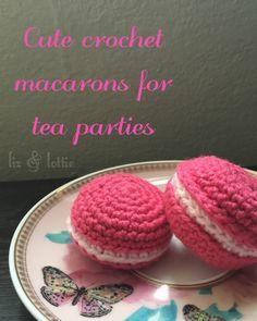 free crochet macaron pattern from liz&lottie