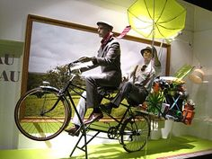 Bicycles and windy days make for fun window displays #vm