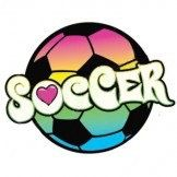 Soccer (rainbow color ball) by Mychristianshirts on Etsy
