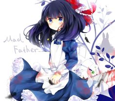 This picture would be super pretty IF THERE WASN'T A CHAINSAW AND BLOOD Aya Mad Father, Father Games, Scary Games, Corpse Party, Rpg Horror Games, Satsuriku No Tenshi, Rpg Maker, Another Anime, Witch House