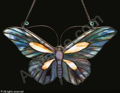 """TIFFANY Louis Comfort,""""BUTTERFLY"""" LAMP SCREEN,Sotheby's,New York"""