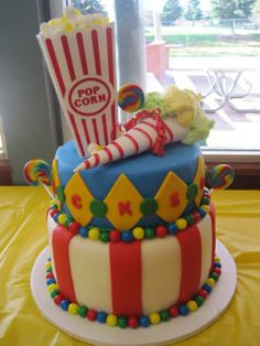 Southern Blue Celebrations: Circus Cake Ideas