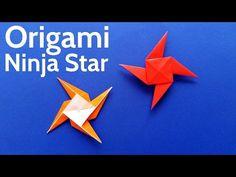 How to Make an Origami Ninja Star / Shuriken / Pinwheel / Windmill - Easy Tutorial - YouTube