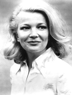 gena rowlands. unconventional beauty, incredible hair, gifted actor and so naturally sexy. i wanna be her!