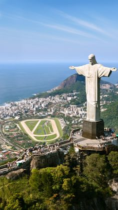 Christ The Redeemer, Corcovado, Rio De Janeiro, Brazil.  Another place I would love to visit.