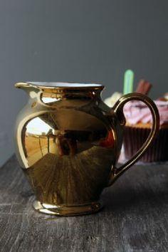 Gold Ceramic Milk Jug