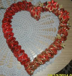Pletenie z papiera: venček len tak ... z lásky