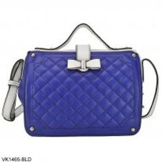 Handbag quilted designed Blue tote with cute bow detail BNWTs RRP £49