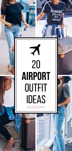 20 Easy To Re-Create Stylish Airport Outfit Ideas Dress up in style! 20 outfit ideas for your air travel. Air Travel Outfits, Airport Travel Outfits, Comfy Travel Outfit, Travel Dress, Travel Outfit Summer, Airport Fashion, Traveling Outfits, Travel Wear, Airport Outfit Long Flight