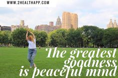 The greatest goodness is peaceful mind  #yoga #health #wellness #nyc #travel